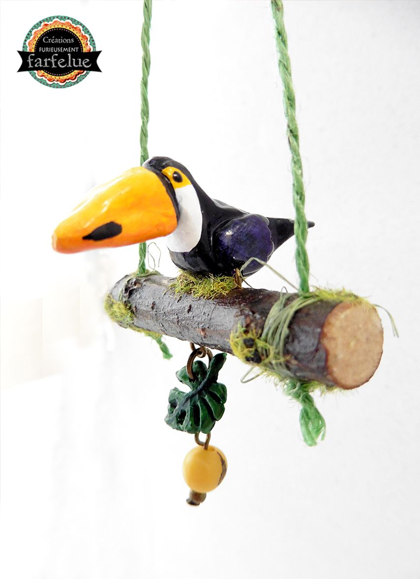Suspension Toucan Forêt tropicale